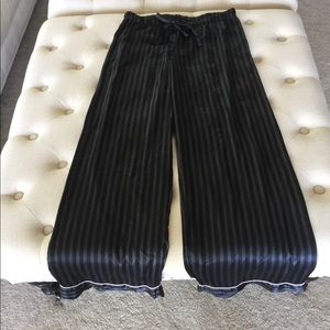 Victoria's Secret Black Striped Sleep Pants